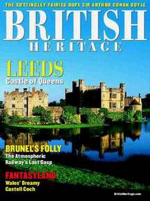 "Cover of the magazine, ""British Heritage"" (May 2004), featuring cover photo and story by Jim Hargan, ""Leeds: Castle of Queens"" [Ask for #990.011.]"