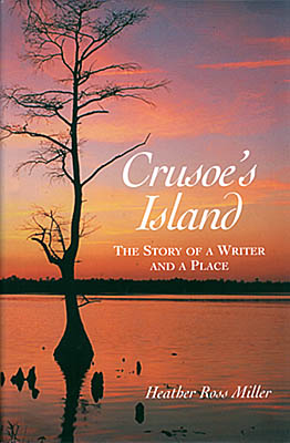 North Carolina: South Coast Region, Bladen County, Elizabethtown Area, Jones Lake State Park, Jim Hargan's photo used for cover of Crusoe's Island, a book by Heather Ross Miller. Sunset on the Bladen Lakes. [Ask for #990.056.]