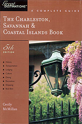 SC, Jim's photo of wisteria by a gas light in Charleston is on the cover of Great Destinations: The Charleston, Savannah & Coastal Islands Book, 5th Ed (2004) [Ask for #990.061.]