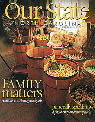 North Carolina: Northern Mountains Region, Watauga County, Boone Area, Valle Crucis, Mast General Store, Our State Cover for March 2006; Mast General Store [Ask for #990.137.]
